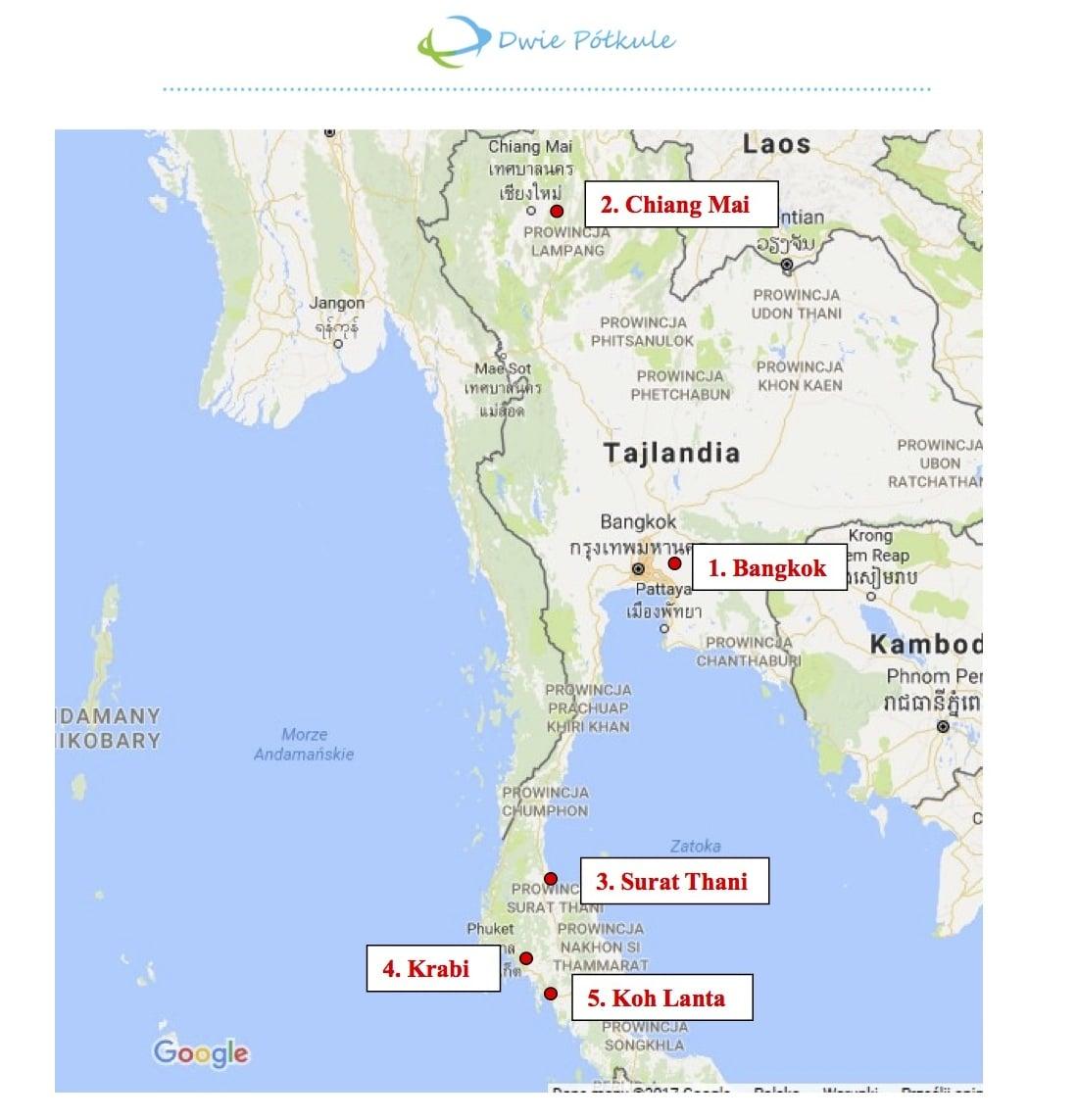 Tajlandia - wstępny plan, SiHP